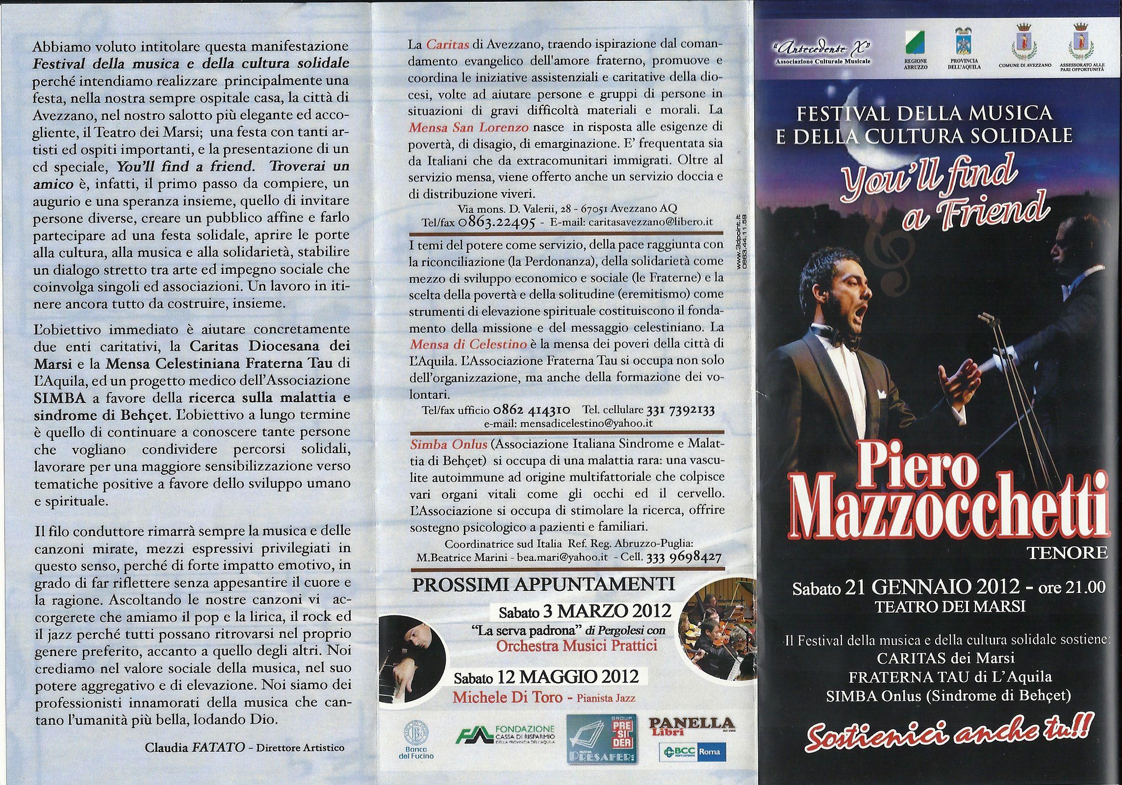 1 per simba Avezzano Teatro dei Marsi Festival della  musica e cultura solidale 21 genn 20122